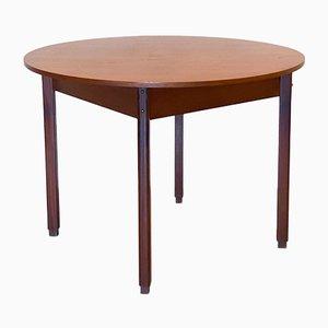 Tavolo rotondo in teak, anni '60
