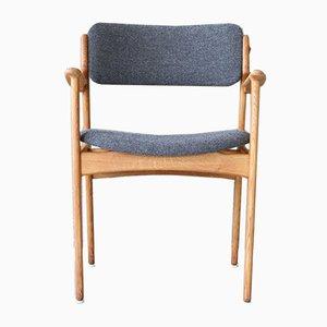 Mid-Century Danish Reupholstered Armchair by Erik Buch for Oddense Maskinsnedkeri / O. D. Møbler, 1960s