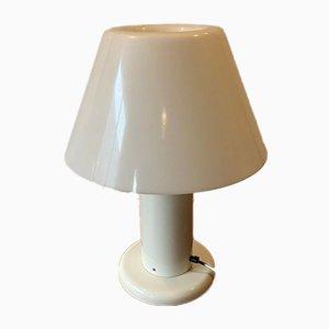 Vintage Lampe aus weiß lackiertem Metall von Guzzini, 1970er