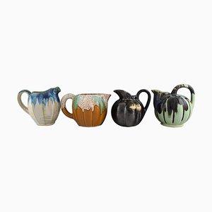 Jugs in Glazed Ceramics, Belgium, 1960s, Set of 4