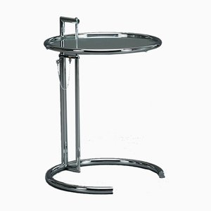 E1027 Adjustable Chrome Table by Eileen Gray for ClassiCon