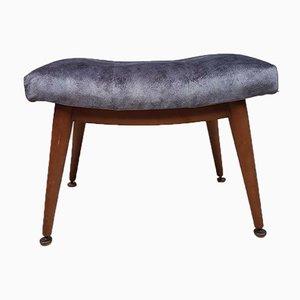 Mid-Century Velvet Dressing Table Stool