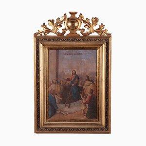 The Entry of Jesus Into Jerusalem, Oil on Board