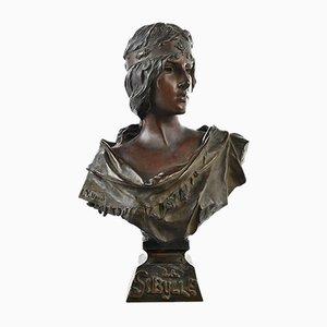Bronze Bust Sybille by E. Villanis