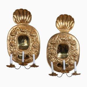 Applique in ottone, Svezia, XIX secolo