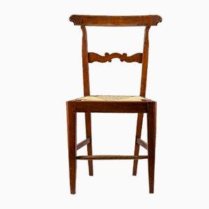 Walnuss Stuhl, Italien 1800er