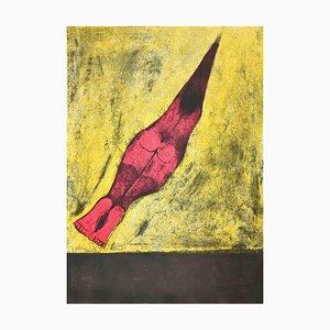 Sconosciuto, Human Bullet, Litografia originale, 1974