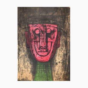 Sconosciuto, The Mask, Litografia originale, 1974