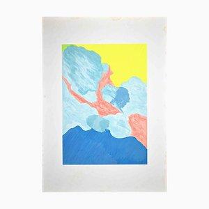 Giulio Turcato, Abstrakte Komposition, Original Siebdruck, 1977