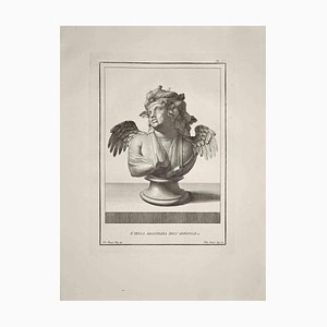 Filippo Morghen, Ancient Roman Bust, Original Etching, Late 18th-Century