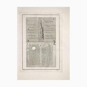 Carlo Nolli, Inscripciones antiguas, Grabado original, finales del siglo XVIII