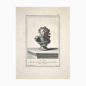 Carlo Nolli, Antike Römische Büste, Original Radierung, Spätes 18. Jh
