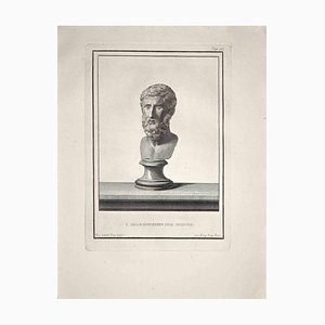 Nicola Billy, Ancient Roman Bust, Original Etching, Late 18th-Century