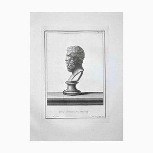 Nicola Billy, perfil de busto romano antiguo, aguafuerte, finales del siglo XVIII