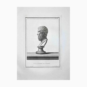 Nicola Billy, Profile of Ancient Roman Bust, Etching, Late 18th-Century