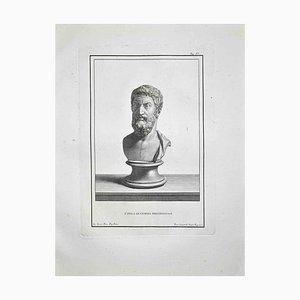 Francesco Cepparoli, Antike römische Büste, Radierung, spätes 18. Jh
