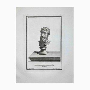 Francesco Cepparoli, Ancient Roman Bust, Etching, Late 18th-Century