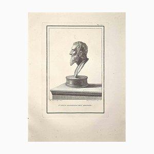 Francesco Cepparoli, Profilo di busto romano antico, fine XVIII secolo