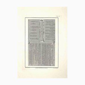 Ferdinando Campana, Antike Römische Inschriften, Radierung, Spätes 18. Jh