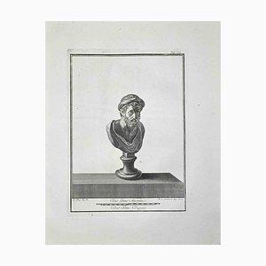 Ferdinando Campana, Busto romano antiguo, Grabado, finales del siglo XVIII