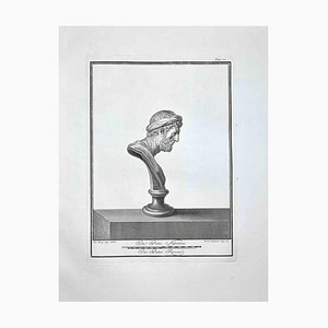 Ferdinando Campana, Profile of Ancient Roman Bust, Etching, Late 18th-Century