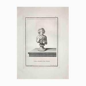 Pietro Mangini, antico busto romano, fine XVIII secolo