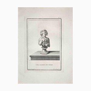 Pietro Mangini, Antike römische Büste, Radierung, spätes 18. Jh