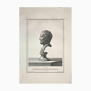 Nicola Fiorillo, Profile of Ancient Roman Bust, Etching, Late 18th-Century