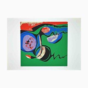 Wladimiro Tulli, Composizione in verde, Serigrafia originale, anni '70