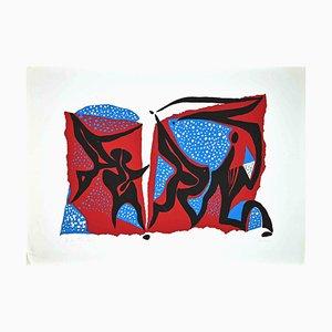 Wladimiro Tulli, Composizione astratta, Serigrafia originale, anni '70