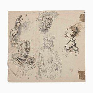 Sconosciuto, Figure, Matita originale su carta, inizio XX secolo