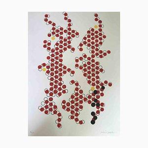 Mario Padovan, Red Circles, Serigrafia originale, 1977