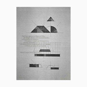 Walter Valentini, Nippur Tempel, Original Radierung, 1977