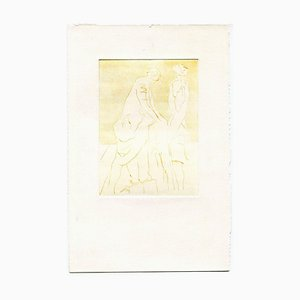 Unknown, Posing Models, Original Etching and Drypoint, Mid-20th-Century