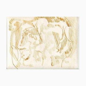 Sconosciuto, Composizione astratta, Acquaforte originale e puntasecca, metà XX secolo