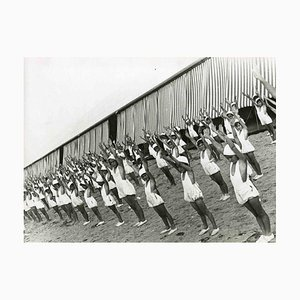 Unknown, Physical Training Session, Black & White Photograph, 1930s