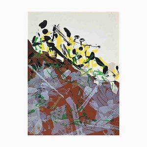 Litografia originale di Jean-Paul Riopelle, Composizione astratta, 1968