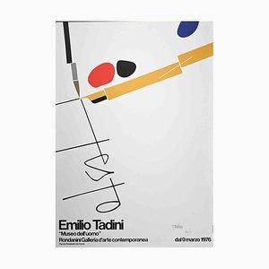 Emilio Tadini, Poster, Litografia originale su cartone, 1976