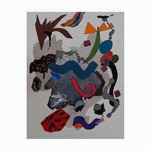 Französische Abstrakte Kunst von Daniel Cayo, Ohne Titel Nr. 12, 2021