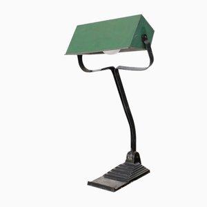 Art Deco Bankers Lamp from Erpe