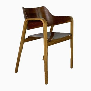 British Bent Ply Dining Chairs by Eric Lyons for Packet Furniture, 1950s, Set of 4