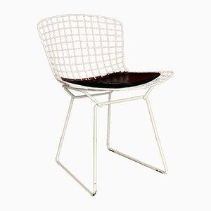 Weißer Vintage Bertoia Beistellstuhl von Harry Bertoia