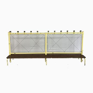 Long Vintage Industrial Shoe Rack or Double Bench