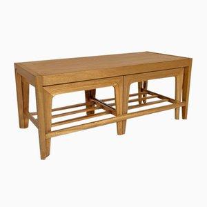 Mid-Century Scandinavian Style Teak Nesting Tables, Set of 3