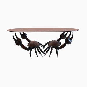 Französischer Krabben Couchtisch, 1950er