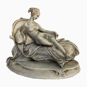 Estatuilla de cerámica de Paolina Borghese Bonaparte de Capodimonte, principios del siglo XX