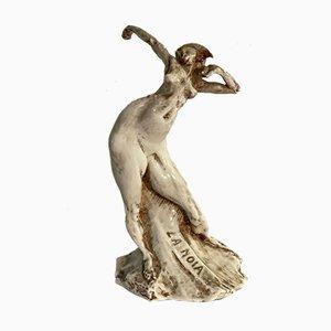Pintura de Boredom vintage de cerámica de Capodimonte