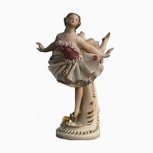 Ceramic Ballerina in Tulle Tutu by Bruno Merli for Capodimonte