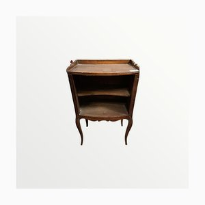 Vintage Bedside Table with Heart Engraving