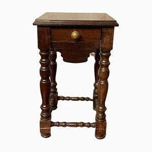 Bedside Table with Turned Columns, 20th Century